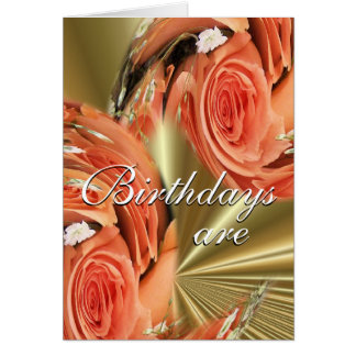 PeachWhirl of Roses--customize-any occasion Card