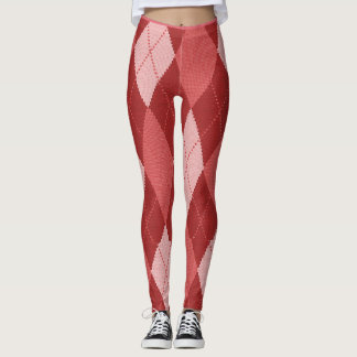 Peachy-Argyle-Patches_LEGGING'S_XS-XL Leggings