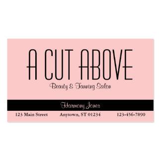 Peachy Beauty Salon Business Card