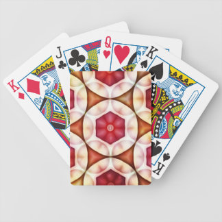 Peachy Cranberry Geometric3500x3500 Poker Deck