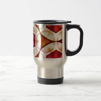 Peachy Cranberry Geometric3500x3500 Travel Mug