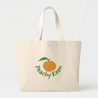 Peachy Keen Large Tote Bag
