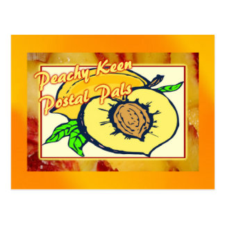 Peachy Keen Postal Pals Postcard