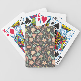 Peachy Keen Wildflowers Bicycle Playing Cards