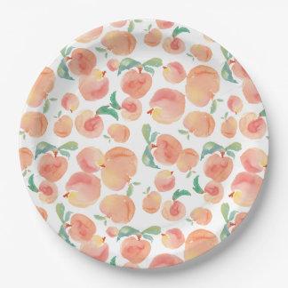 Peachy Paper Plate
