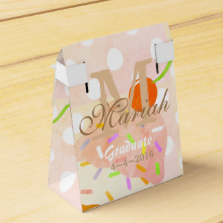 Peachy Pink Ice Cream cone Party Favor Box