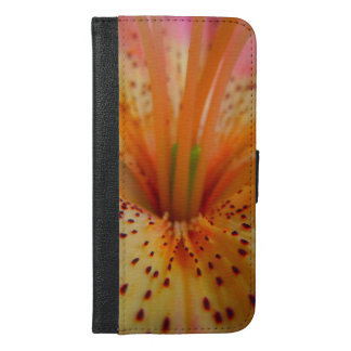 Peachy Pink Up Close Lily iPhone 6/6s Plus Wallet Case