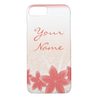Peachy shiny flowers with sparkles iPhone iPhone 7 Case