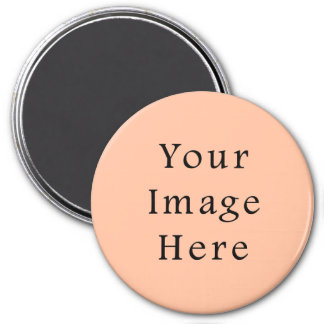 Peachy Skin Tone Beige Pink Color Trend Template 3 Inch Round Magnet