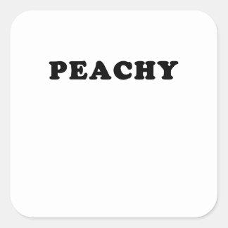 peachy square sticker