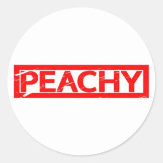 Peachy Stamp Classic Round Sticker