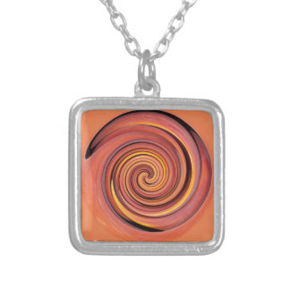 Peachy twirl personalised necklace