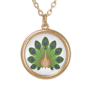 Peacock 1 gold plated necklace