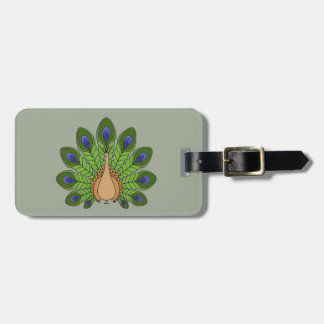 Peacock 1 luggage tag