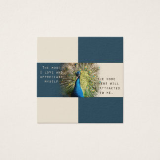 Peacock Affirmation Cards