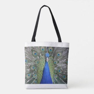 Peacock All Over Print Tote