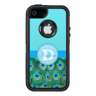 Peacock and Blue Monogrammed Otterbox Case