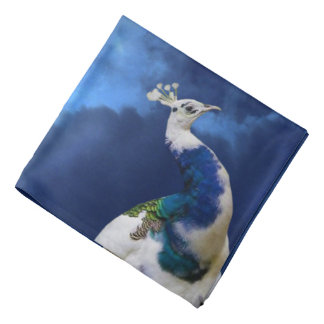 Peacock and Blue Sky Bandana