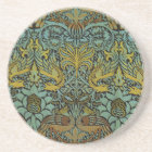 Peacock and Dragon William Morris Tapestry Design Coaster