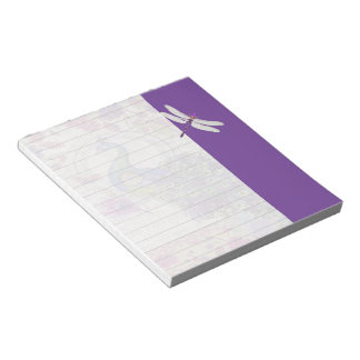 Peacock and dragonfly notepad