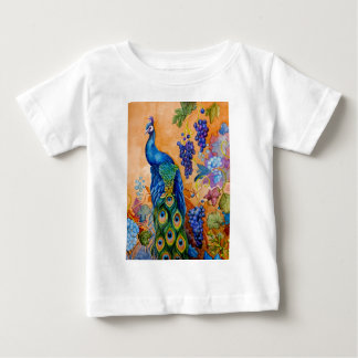 Peacock and Grapes Baby T-Shirt