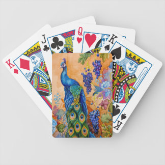 Peacock and Grapes Bicycle Playing Cards