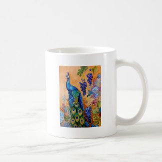 Peacock and Grapes Coffee Mug