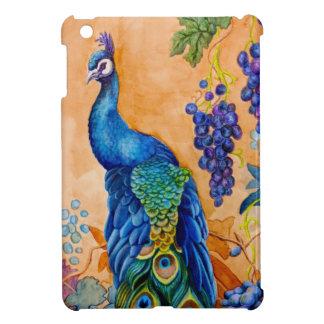 Peacock and Grapes iPad Mini Case