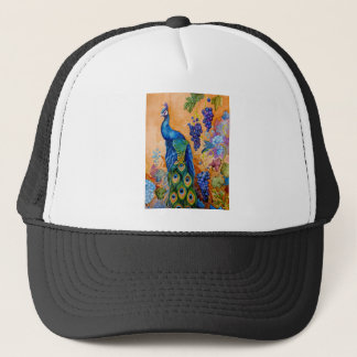 Peacock and Grapes Trucker Hat