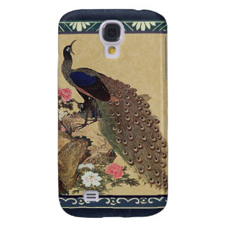 Peacock and Peonies Vintage Japanese Fine Art