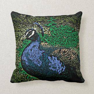Peacock art decorative throw pillow