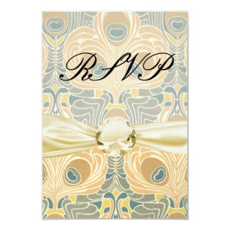 peacock art nouveau card