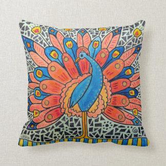 Peacock Art Pillow