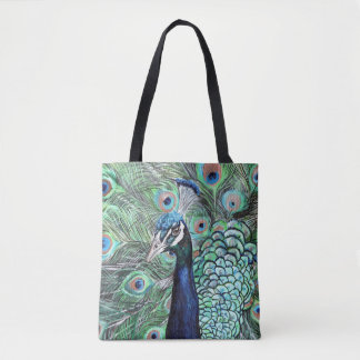 Peacock Art Tote Bag