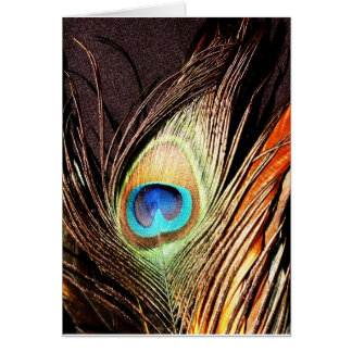 Peacock Beautiful Green Bird Animal Royal Luxury S Card