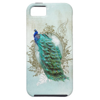 peacock beautiful turquoise vintage shabby bird case for the iPhone 5