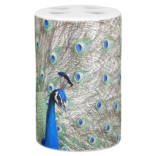 Peacock Bird Bath Set