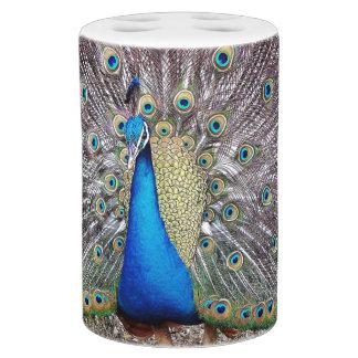 Peacock Bird Bath Set