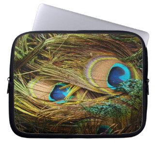 Peacock Bird Feathers Wildlife Animals Laptop Sleeve