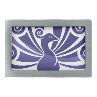 Peacock Bird Peafowl Icon Concept Belt Buckles