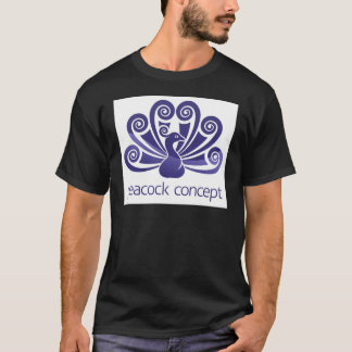Peacock Bird Peafowl Icon Concept T-Shirt