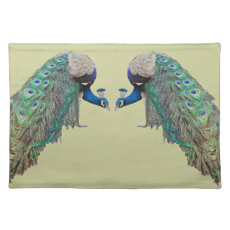Peacock Bird Wildlife Animal Feathers Place Mat
