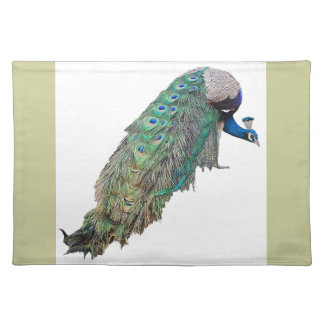 Peacock Bird Wildlife Animal Feathers Place Mats