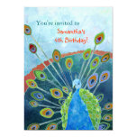 Peacock Birthday Party Invitations for Kids
