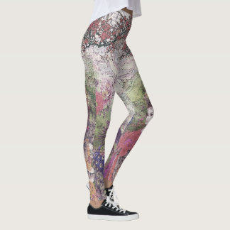 Peacock Blossom & Lotus Bride Leggings