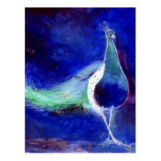 Peacock Blue 2013 Postcard
