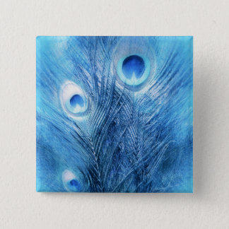Peacock Blue 2 Inch Square Button