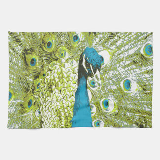 Peacock Blue and Green Kitchen Towel