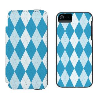 Peacock Blue Argyle Small Diamond Shape Incipio Watson™ iPhone 5 Wallet Case