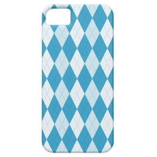 Peacock Blue Argyle Small Diamond Shape iPhone 5 Cases